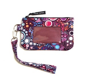 card holder wallet - ID holder case - womens wallet - id holder wallet - ID wallet - small wallet - student wallet id lanyard - gift for her