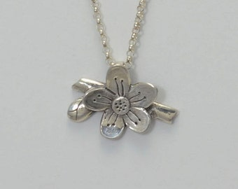 Gratitude Necklace in Fine Silver and Sterling Silver