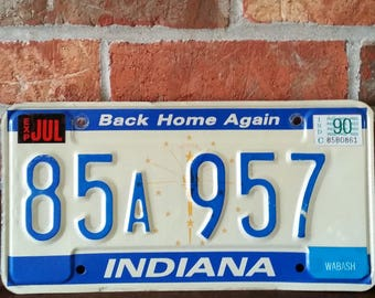 Back Home Again style, Indiana license plate! WABASH indiana!