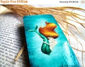 Spring cleaning sale The tiniest mermaid - Laminated bookmark