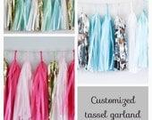 INDIVIDUELLE Girlande / / Quaste Girlande / / Hochzeit und Party Dekoration