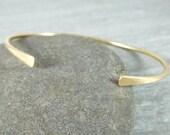 14K Gold Filled Cuff Bracelet, Gold Open Bangle Bracelet, Simple Stacking Bracelet, Minimalist Jewelry, Delicate Thin Cuff Bracelet, GRJ