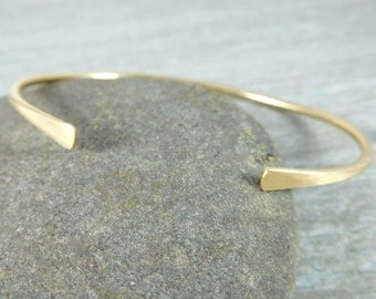 14K Gold Filled Cuff Bracelet, Gold Open Bangle Bracelet, Simple Stacking Bracelet, Minimalist Jewelry, Delicate Thin Cuff Bracelet, GRJ