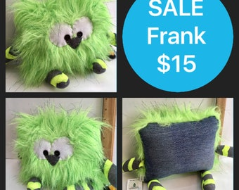 SALE Frank the Pillow Pal Monster