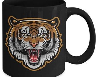 Tiger Striped Big Cat Coffee Mug