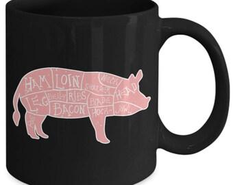 Pork Cuts Pig Meat Coffee Mug