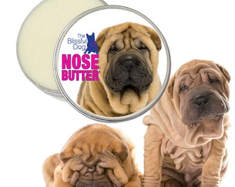 Chinese Shar-Pei NOSE BUTTER® All Natural Handcrafted Balm for Dry or Crusty Dog Noses CHOICE: 1 oz, 2 oz or 4 oz Tin SharPei on the Label
