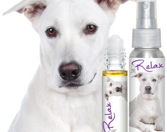 JUST A DOG RELAX Aromatherapy for Dog Anxiety, Stress, Fear - 4th of July, Thunderstorms, Travel, Separation Roll-on & Spray
