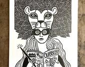 Luna Lovegood | Harry Potter Fan Art Print on Paper