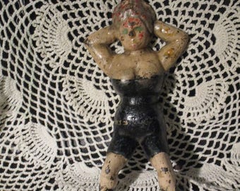 Naughty Nellie Cast Iron Risque Vintage  Naughty Nellie Boot Jack or Doorstop