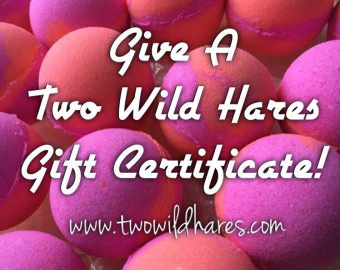 Gift Certificate to Two Wild Hares