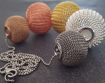 Grace Luxe Mesh Gold Silver Bronze Necklace