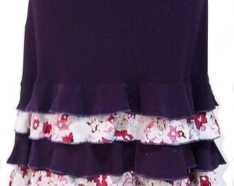 MAYA flamenco skirt **New**  flamencita design. Tribal fusion skirt.