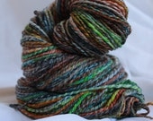 Hand spun worsted weight merino 3 ply 129  grams 4.6 oz 226 yards