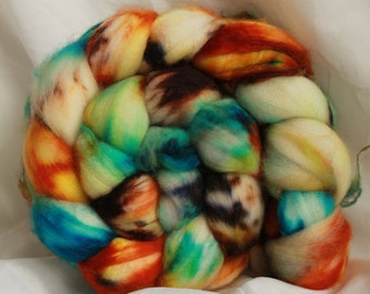 Super wash merino hand dyed combed top/ Roving (4.1 oz)  #25