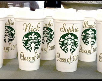 Starbucks Custom Personalized Re Usable Cups, Starbucks Cups, Personalized Coffee Cup, Coffee Cup, Custom Cup,Graduation gift