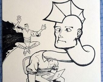 Savage Dragon Cover, Original Comic Book Art by Michel Fiffe