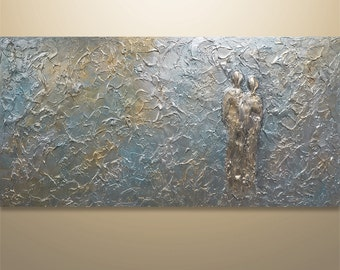 Abstract Wall Art, Abstract Figures , Abstract Painting, Acrylic painting, 3D Heavy Texture, canvas art, Home decor, Wall Art Metallic
