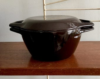 Vintage Copco Dutch Oven Michael Lax Casserole Enameled Cast Iron