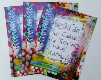 Blessed Are the Curious Postcard Set