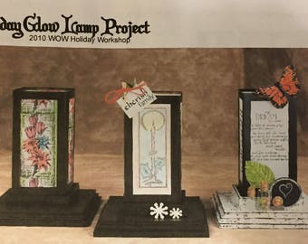 Great Handmade Glow Lamp Project Kit!  - Most Supplies & Instructions! - Free US Shipping