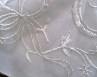 cant resist lovely white embroidered designed handkerchief