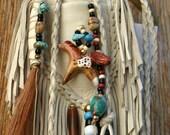 Native Appaloosa Horse Leather Medicine Bag Keepsake Pouch Jill Claire