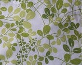 Vintage sheet Spring leaves on white twin flat EUC