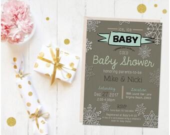 Ice, Ice, Baby Shower Invite