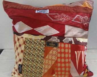Vintage Mens Tie Pillow / Designer Pillow