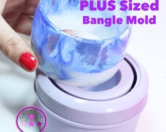 PLUS SIZE Bangle Mold Chunky Extra Large Sized Bangle Mold Silicone Rubber