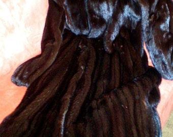 Vintage Mink Full Length Black Natural  Female Skins Denmark Nordstrom New Condition Designer
