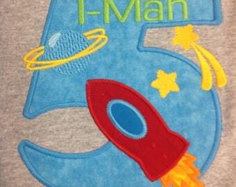GreatStitch Astronaut Birthday Shirt