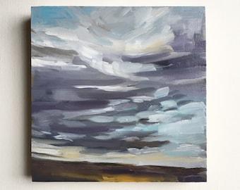 "Friday Sundown  • original 5x5"" oil painting"