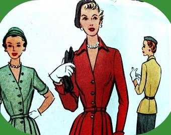 1950s McCall  Pattern 8292  - STUNNING  Misses' Two-Piece Suit Dress  *  Size 18..Bust 36 * UNCUT & FF
