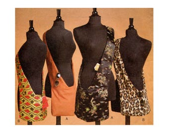 Cross Body Bag Pattern Shoulder Bag Messenger Travel Bag Tote Purse Sandra Betzina Accessories Vogue 7862 One Size Sewing Pattern