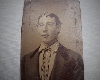 Handsome Victorian Tintype Portrait of Young Man