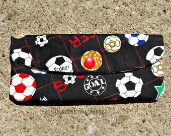 Soccer Cash Envelope, Snap Pouch, Coupon Holder, Budget, Pouch