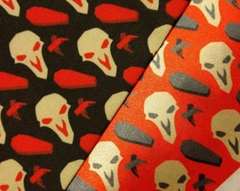 HANDMADE FABRIC 1 YARD Reaper (Overwatch) death coffins goth punk scene geeky game