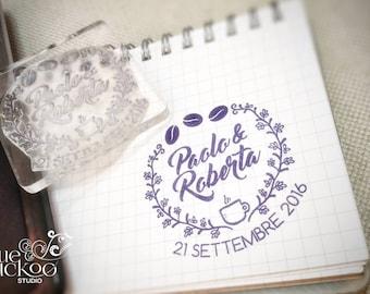 Wedding stamp with plexiglass base