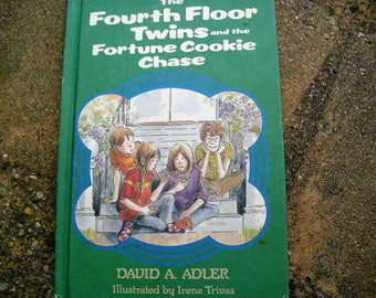 Vintage Book The Fourth Floor Twins and the Fortune Cookie Chase written by David A. Adler Illustrated by Irene Trivas