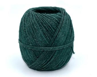 Green Hemp Twine, 1mm, 20lb, 200ft,  Hemp String, Craft Twine