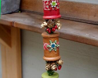 Primitive Spool Hanging Ornament