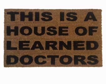 House of Learned Doctors door mat - floor mat funny eco friendly outdoor geek  doormat