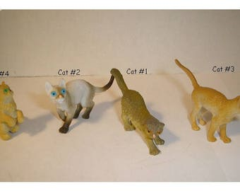 Fairy Garden Plastic Cats/ 4 to Choose from OR Set of 4/ Minis/Supplies*