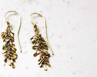 14k Gold Chandelier Earrings / Gold Chandelier Earrings / Chandelier Earrings / Handmade Earrings / Gold Dangle Earrings / Bridal Jewelry