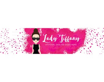 Blog Header - Blog Design - WordPress Header - Blogger Header - Website Header - Watercolor Banner - Lady Character - Tiffany