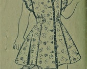 """Vintage 1940s American Weekly Mail Order Sewing Pattern 3793  Girls' Dress & Cape   Size 8  Bust 26"""""""
