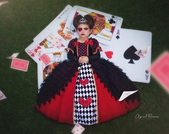 Queen of hearts inspired  costume ballgown  size 4t