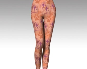 Greyhound Stencil Leggings